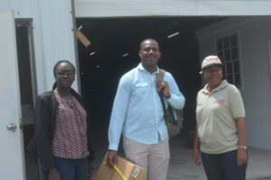 L to R: DNDC, Claricia Langley-Stevens, Hon. Shawn Richards, DPM, Ann Jean Baptiste, USAID/OFDA